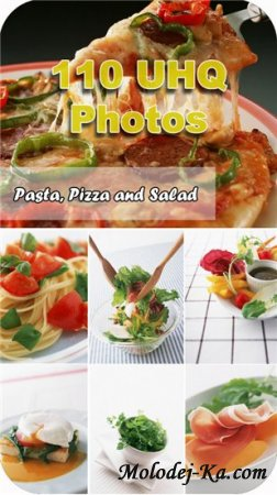 Клипарты - пицца, салат