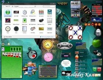 Гаджеты для Windows XP (500 шт)