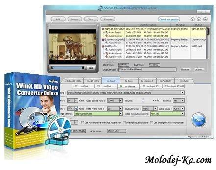 WinX HD Video Converter Deluxe 3.4 Build 20100326