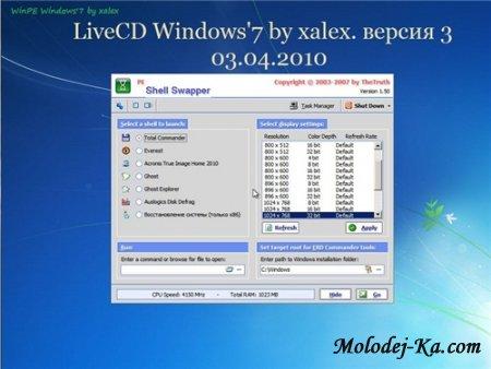 LiveCD Windows'7 by xalex версия 3 (ENG/RUS)