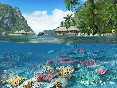 Caribbean Islands 3D Screensaver 1.1 Build 3 Rus Portable