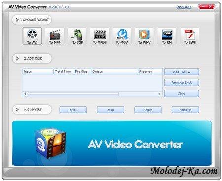 AV Video Converter 2010 3.1.1
