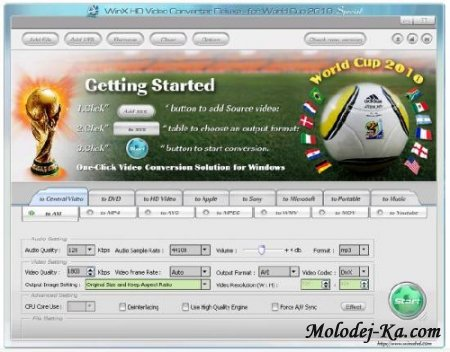 WinX HD Video Converter Deluxe 3.7 (World Cup 2010 Special Edition)