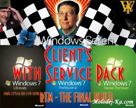 Windows 7 Enterprise RTM SP1 OEM Оригинальные дестрибутивы (01.2011) EN/RU