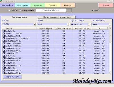 [Компания Прайс-Софт наименование АМТС не определено] (2007) Идентификация автомобиля