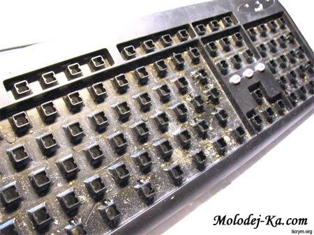 Как очистить клавиатуру от грязи (2011)