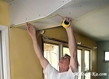Установка натяжного потолка по гарпунной системе (2008 / CAMRip)